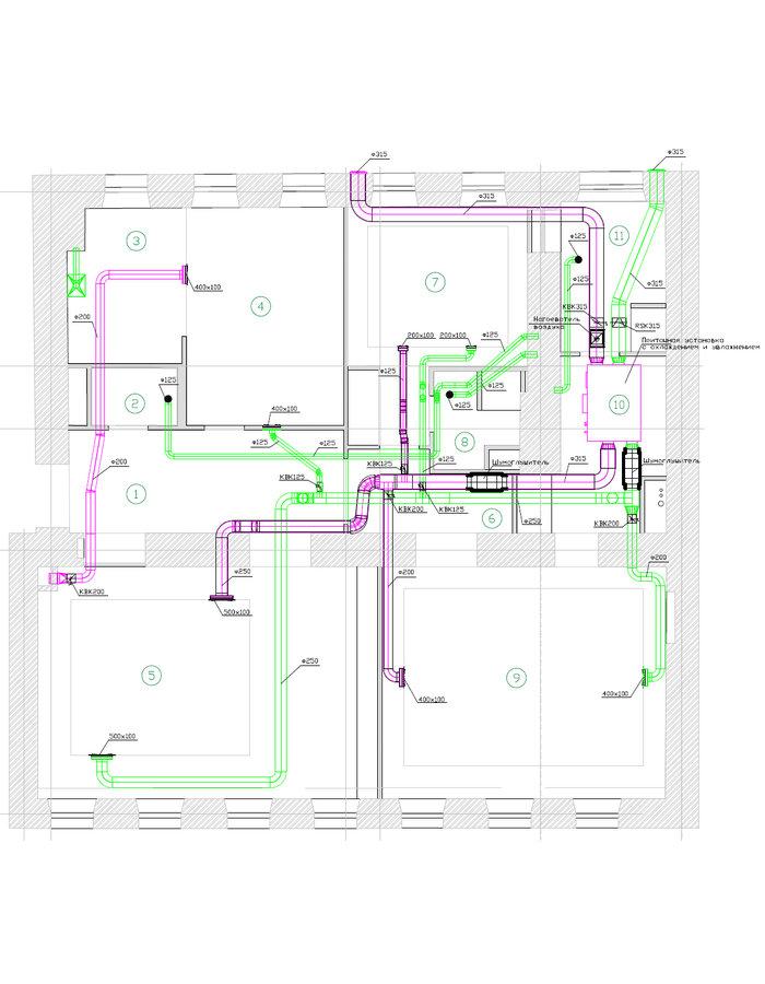 Схема вентиляции квартиры с